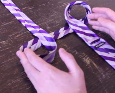 Как завязать галстук за 10 секунд? Теперь все мужчины будут спасены!