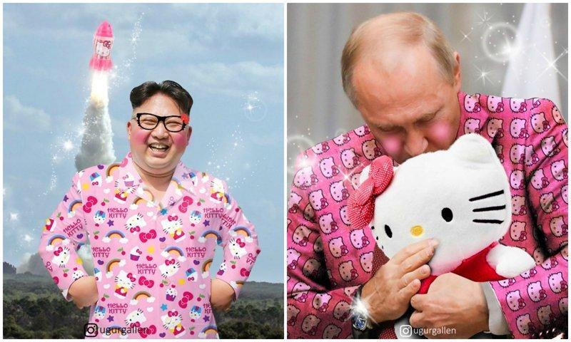 Фотошоп-фантазии: если бы мировые лидеры были фанатами Hello Kitty