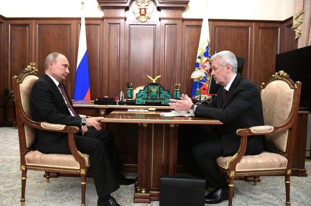 Собянин на встрече с Путиным рассказал о помощи Севастополю