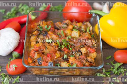 Готовые овощи подать к столу.