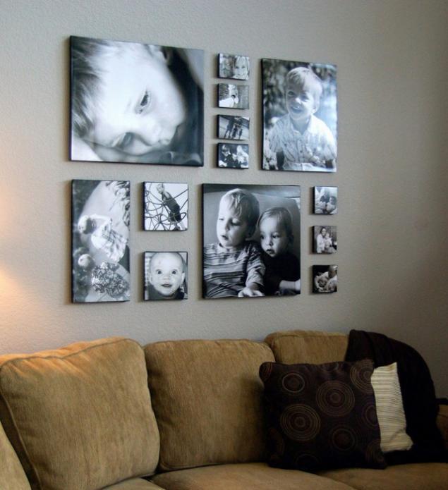 Фото своими руками на стену
