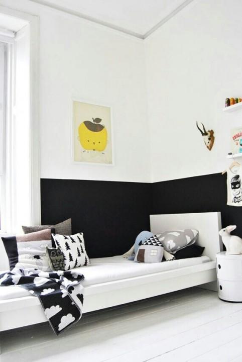 Двухцветные стены