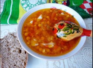 Томатный суп с нутом, быстро…