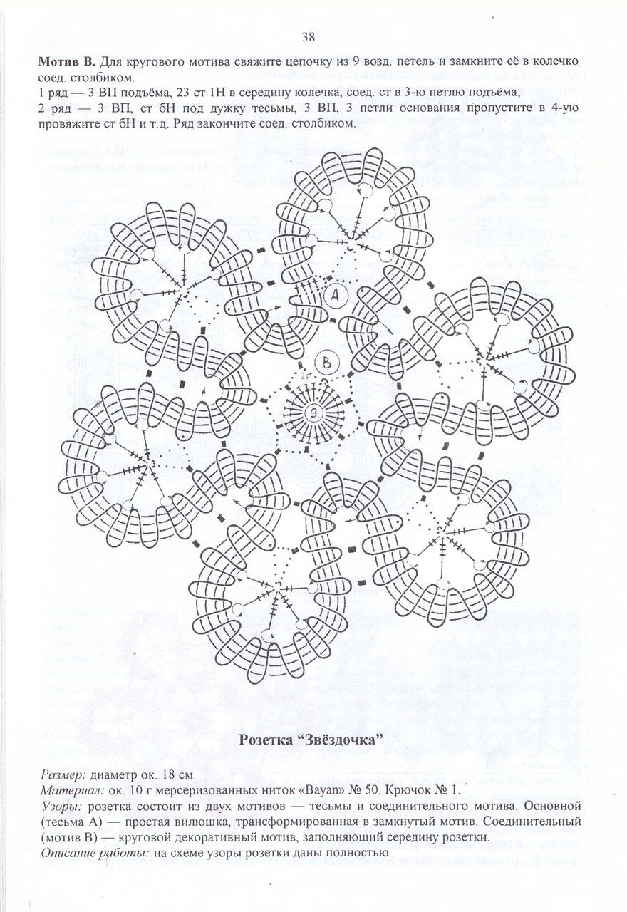 цветы брюггское схемы кружево крючком