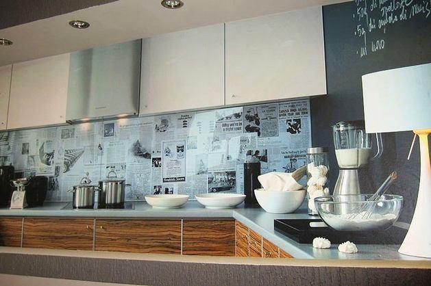 Кухня в цветах: черный, серый, светло-серый, белый, коричневый. Кухня в стиле эклектика.