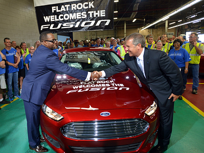 Запуск конвейер по сборке Ford Fusion (Mondeo) в Мичигане