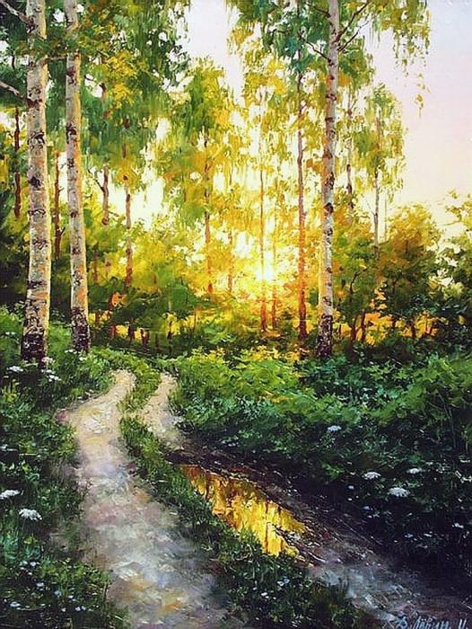 «Снится мне деревня» —  милейшие картины мастера русского пейзажа Дмитрия Лёвина