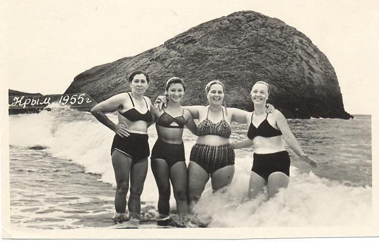 Бикини в СССР бикини, девушки, интересное, красота, купальники, мода, фото