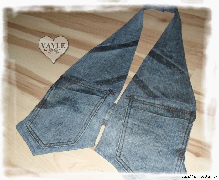 Как сшить жилет из старых джинсов (30) (700x575, 296Kb)