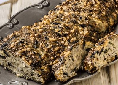 Мясной хлеб с шампиньонами