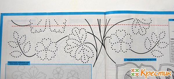 Схема для вышивки узелком
