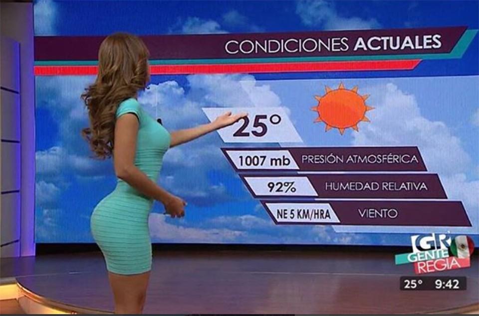 Ведущая прогноза погоды свод…