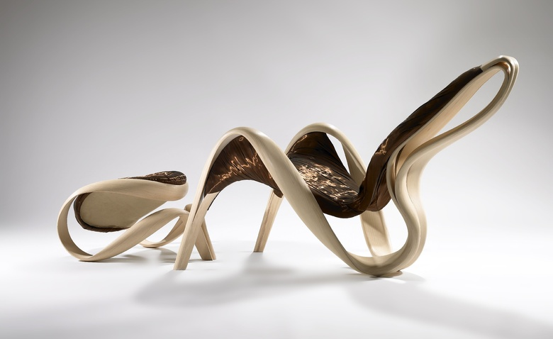 Мебельные арабески из гнутого дерева