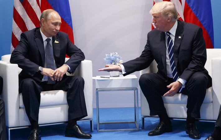 """""""Алло, Кремль?!"""" - После слов Путина на пресс-конференции Трамп бросился ему звонить"""