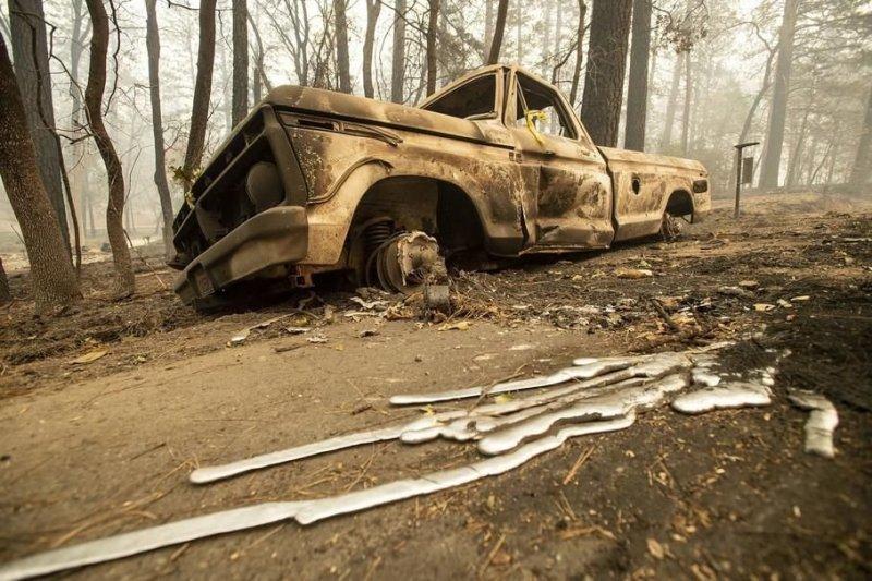Автомобили, погибшие в калифорнийских пожарах