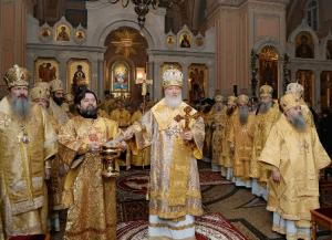 Святейший Патриарх Кирилл совершил великое освящение главного храма Иоанно-Предтеченского монастыря Москвы