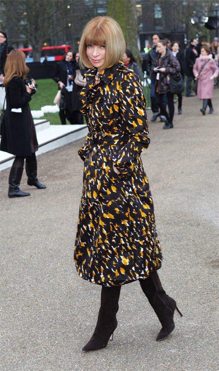 Анна Винтур на Lnodon Fashion Week