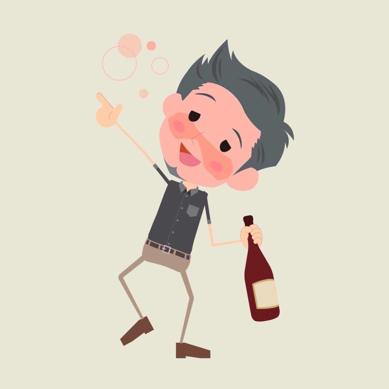 Анекдот про пьяного мужика, повстречавшего вавтобусе попа