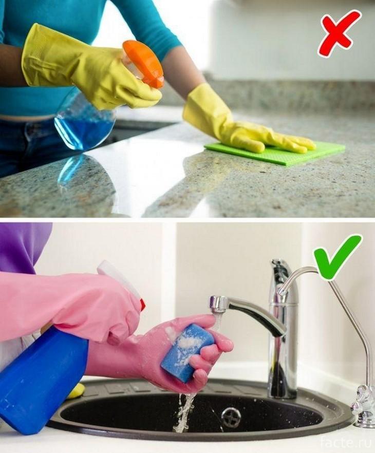 Какие ошибки нельзя допускать во время уборки?