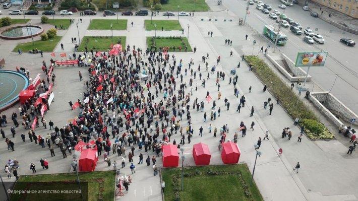 В Барнауле прошел митинг в с…