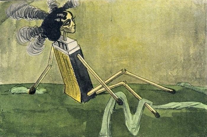 Карикатура Алексея Радакова на *Портрет Иды Рубинштейн* В. Серова | Фото: anews.com
