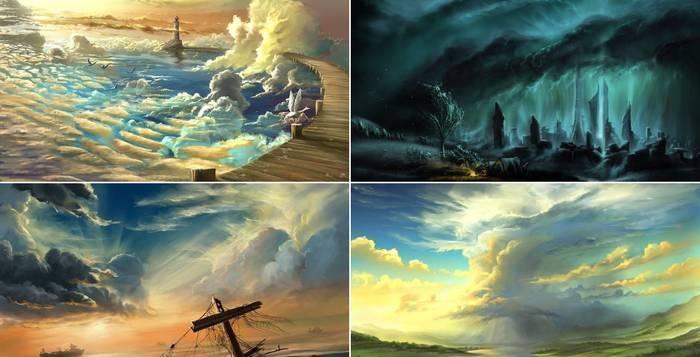 Фантастические небеса в цифровых работах Александра Роммеля