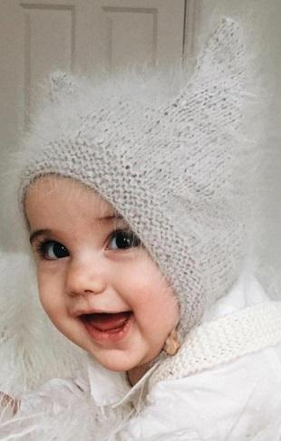 Прикольная детская шапка с у…