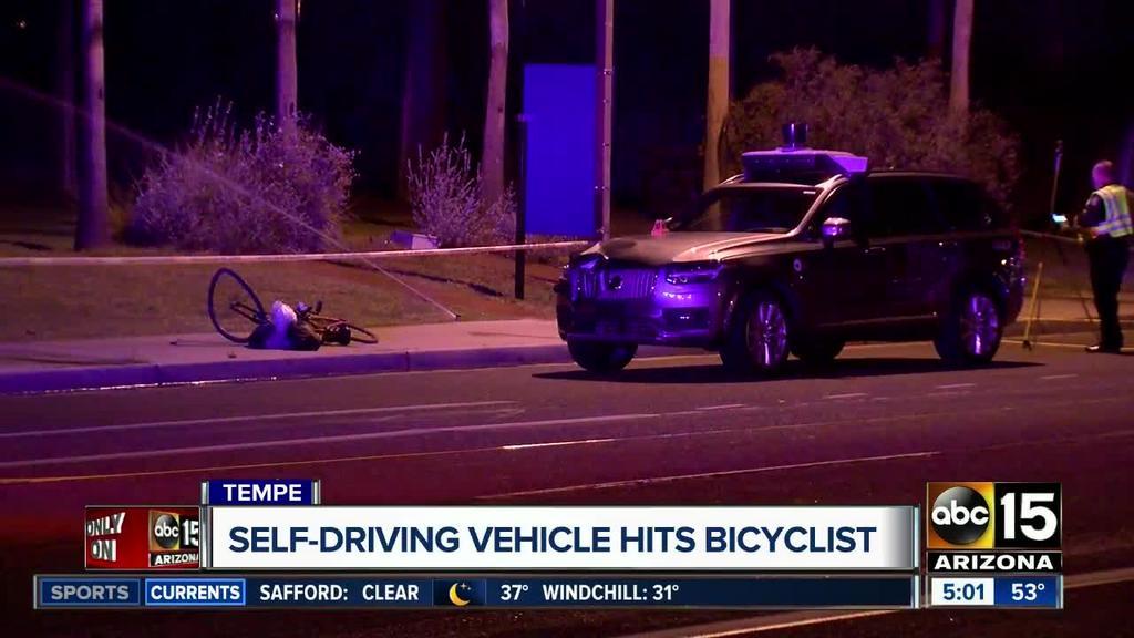 Женщина погибла под колесами беспилотного такси