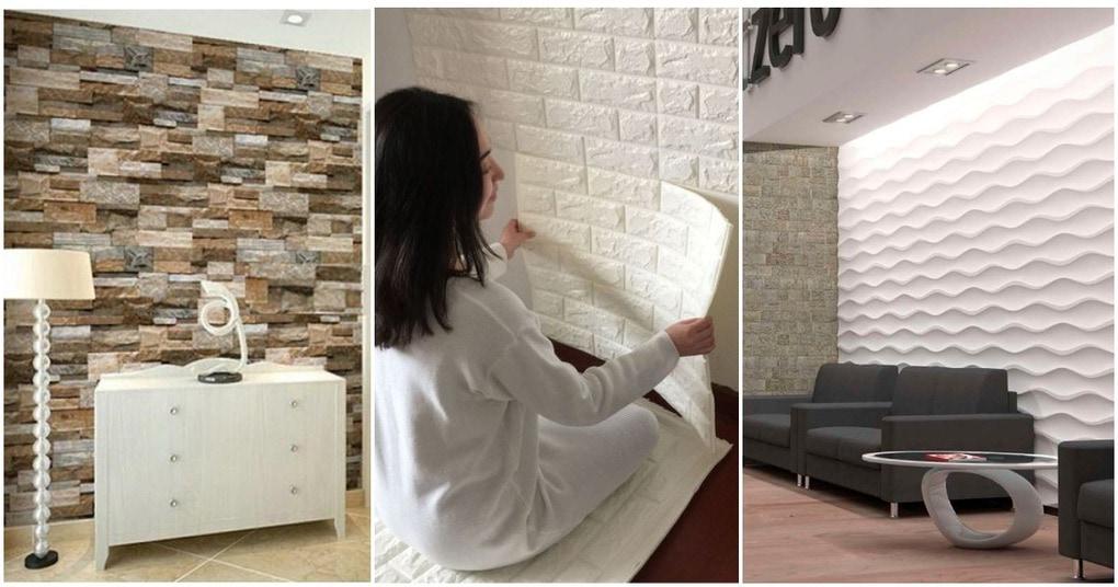 Украсьте стены 3D панелями! Легко и экономно. Интересные и необычные фото идеи