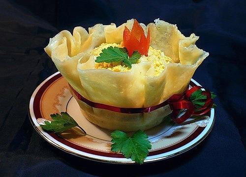 Р-Урок 16. Украшение сырных корзиночек и горячих закусок...с рецептами...