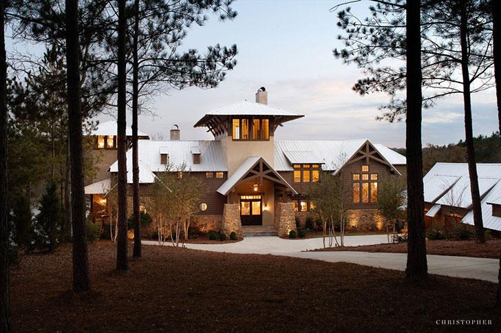 Дом у озера в США, который создан для наслаждения природой