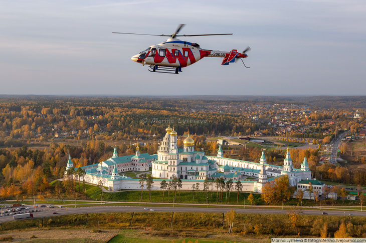 Осенняя Москва с вертолета