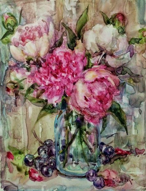 Вспоминая улыбки лета и нежный аромат цветов... дивные натюрморты Джули Форд Оливер