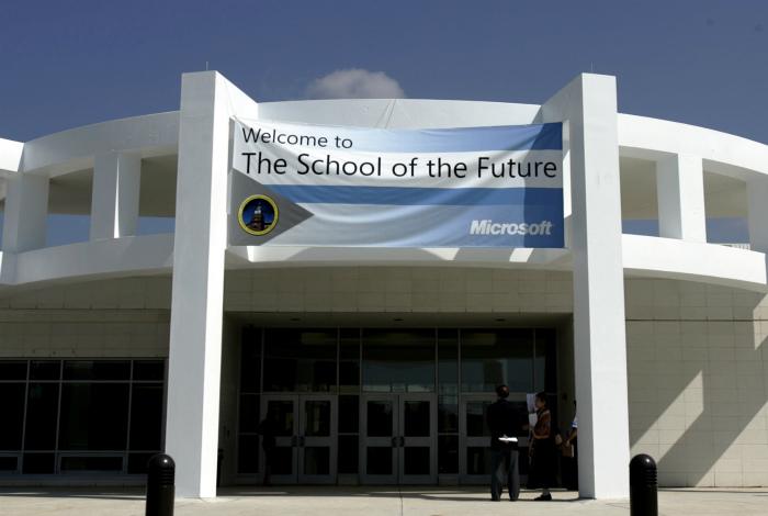 Компьютеризированная школа в Филадельфии.