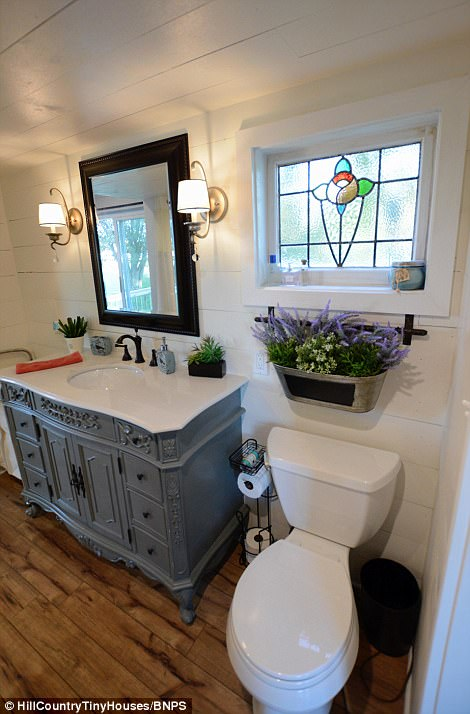 The stylish bathroom