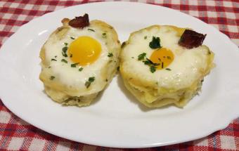 Картофельные кексы с яйцом