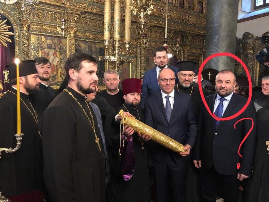 Жид , западенский униат и грузинский бандит строят новую укропскую церковь