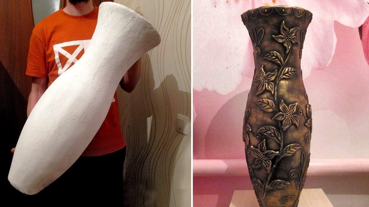 Напольная ваза из картона  своими руками. Мастер - класс
