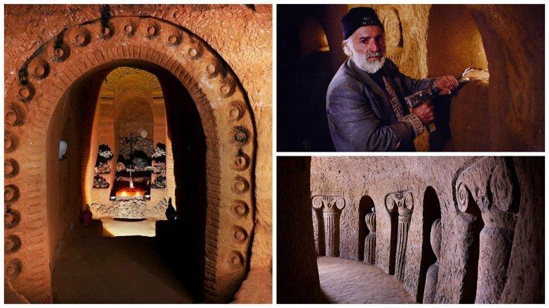 Этот подземный храм строился 23 года с помощью молотка и зубила