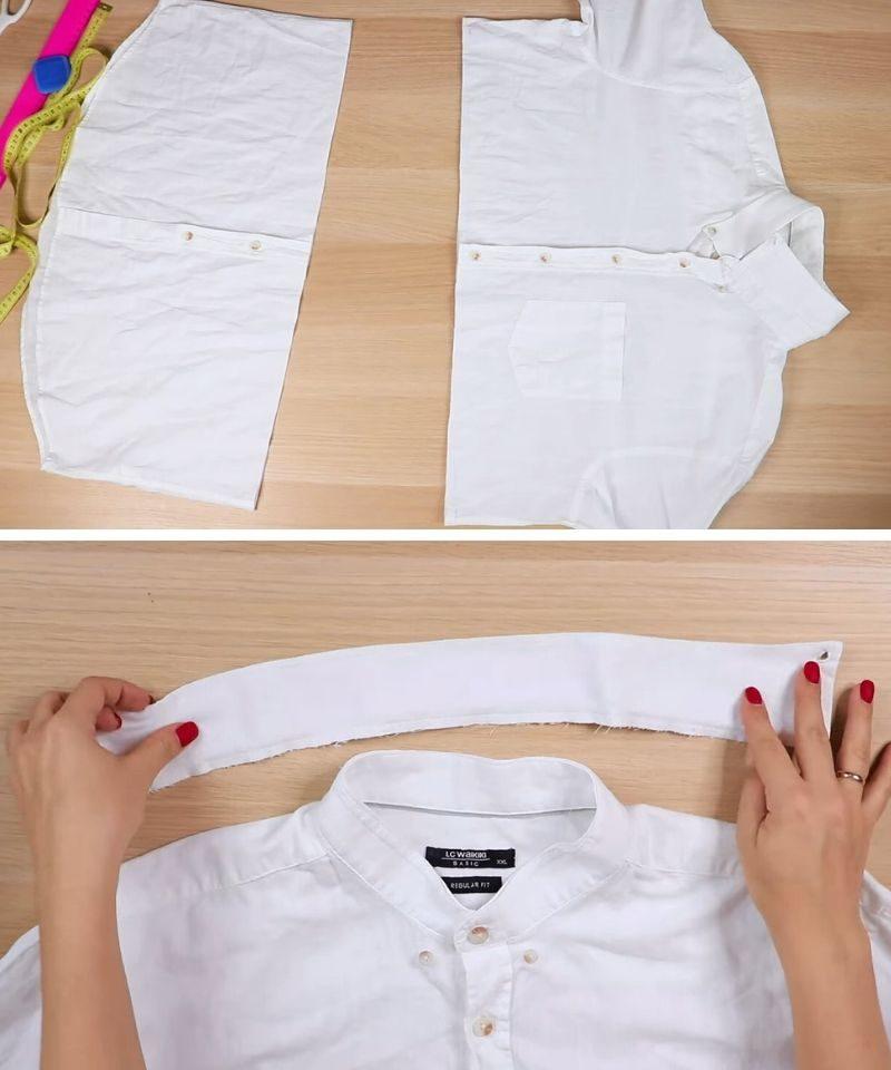 Мужская рубашка — три стильных образа: переделка без хлопот