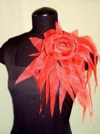 Цветок из платка, Цветок из ткани, Цветок из органзы