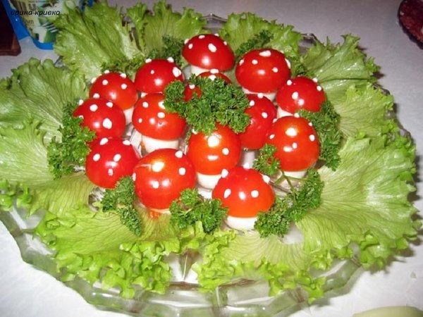 Мухоморчики - вкусная и красивая закуска