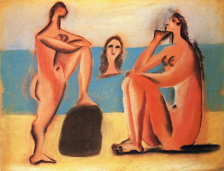 Пабло Пикассо. Три купальщицы 2. 1920 год