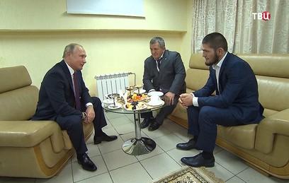 Путин пожурил Нурмагомедова за драку после боя с Макгрегором