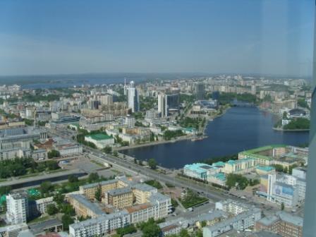 Екатеринбург с высоты здания Высоцкий