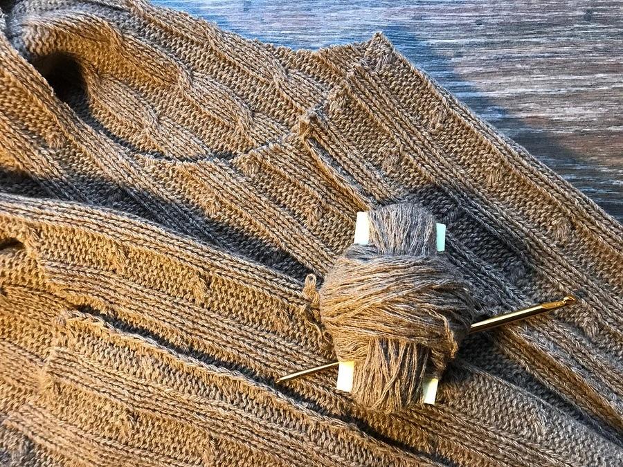 Обработка припусков швов в изделии из объемного вязаного трикотажа 0
