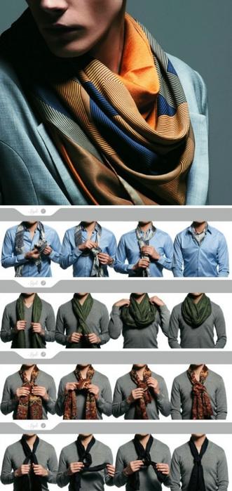 Мужская тема: шарфы, галстуки, узлы, носки и прочее
