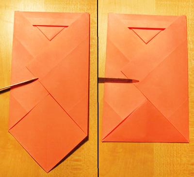 Как сделать конверт из прямоугольного к 182