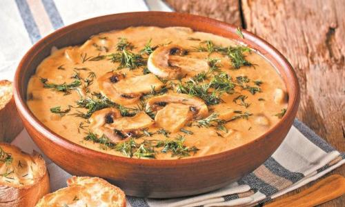Суп с грибами по-венгерски