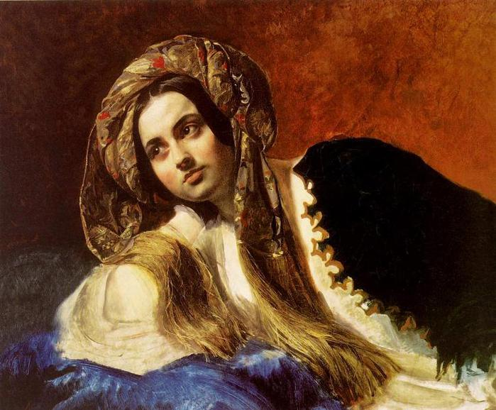 Турчанка 1838 The Tretyakov Gallery (700x578, 72Kb)